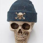 Skull Money-Box Fishermans Cap Blue