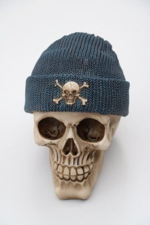 Skull Money-Box Fishermans Cap Blue