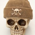 Skull Money Box Fishermans Cap Brown