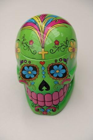 Skull Jar Green