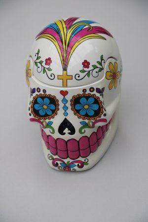 Skull Jar White