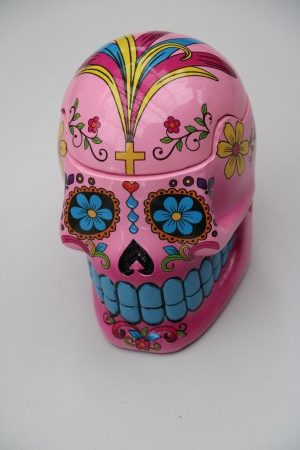 Skull Jar Pink