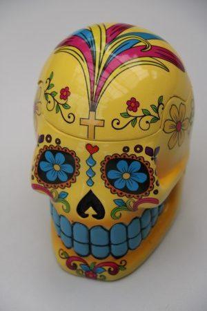 Skull Jar Yellow