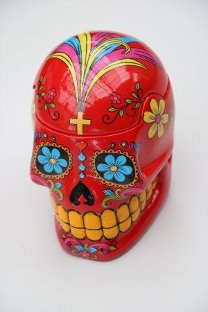 Skull Jar Red