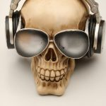 Skull Money Box Sunglasses Headphones