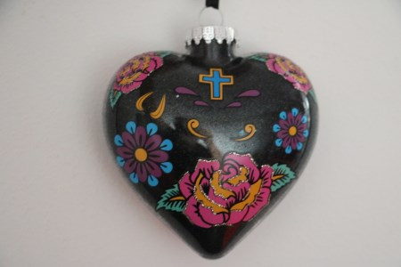 Black Heart Christmas Ornament