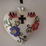 White Heart Christmas Ornament