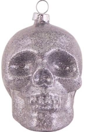 Skull Silver Glitter